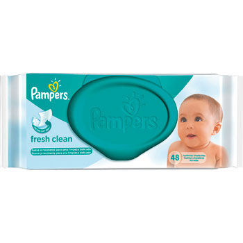 Lenco Umedecido Pampers Fresh Clean 48 Unidades