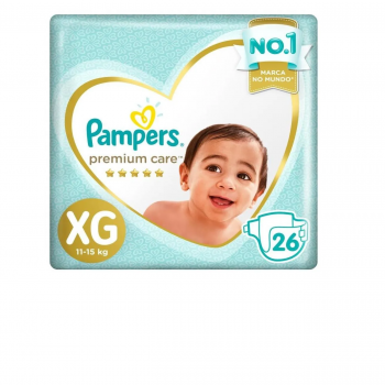 FR PAMPERS PREMIUM CARE MEGA XG C/26