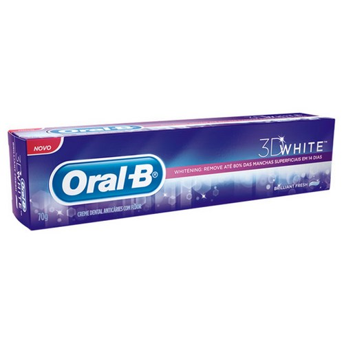 Creme Dental Oral B 3D With Brilliant Fresh 70g