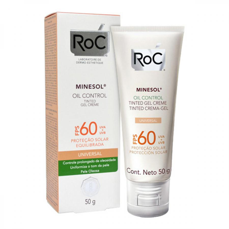 Roc Minesol Oil Control Tinted FPS60 50g