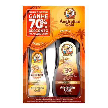 KIT AUSTRALIAN GOLD ACELERADOR 125ML + BRONZEADOR FPS30 237ML