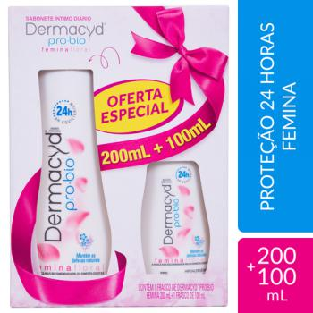 KIT DERMACYD FEMINA SAB LIQ 200ML+100ML