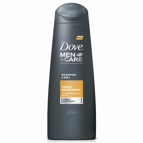 Shampoo Dove Men Care 2x1 Força Resistente 200ml