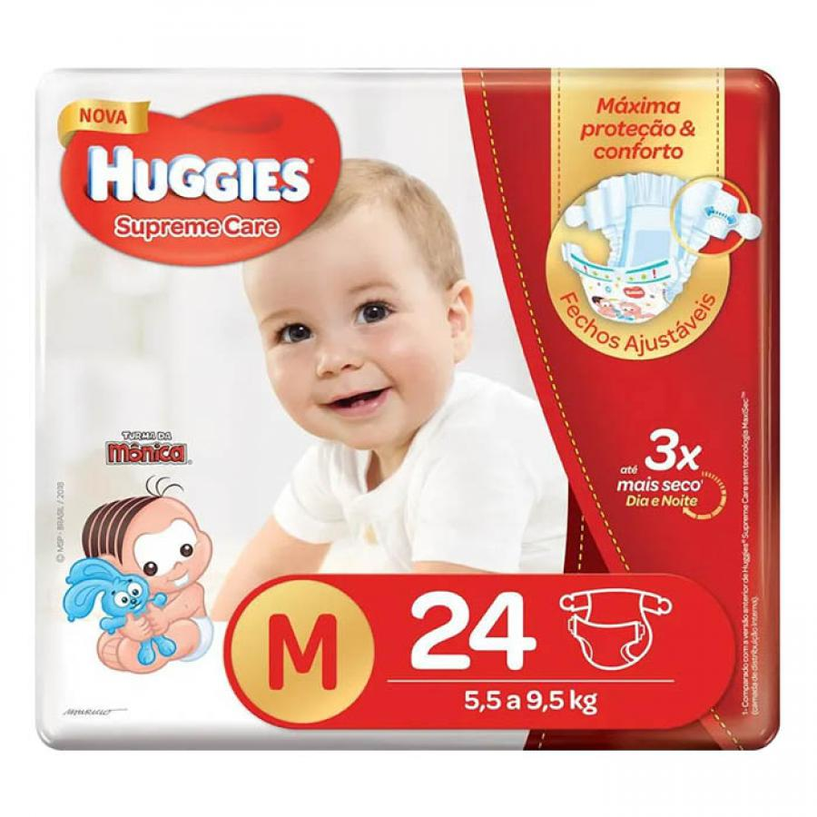Fralda Huggies Suprema Care M 24 Unidades