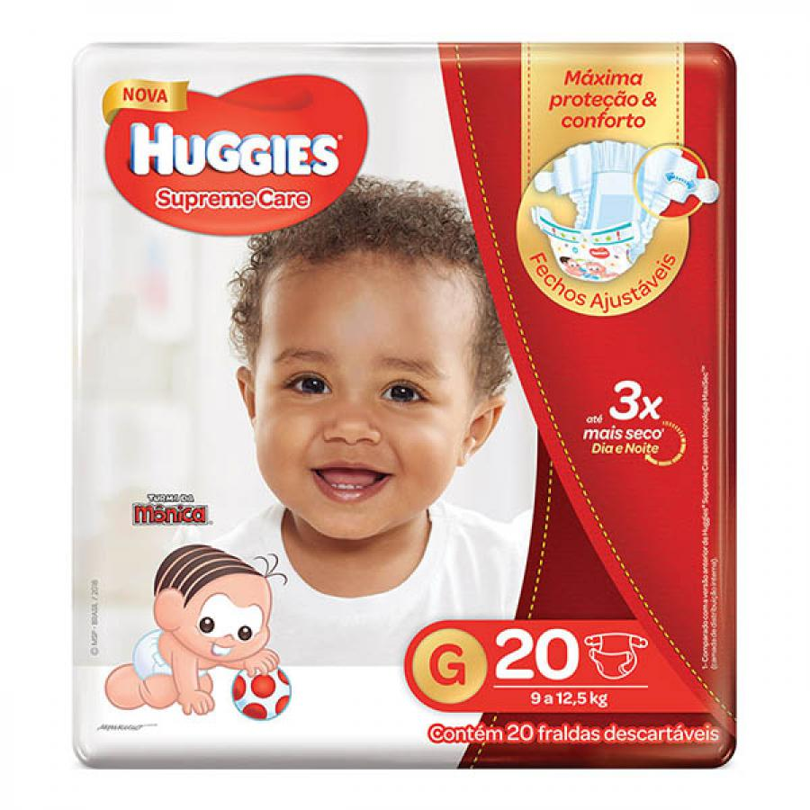 Fralda Huggies Suprema Care G 20 Unidades