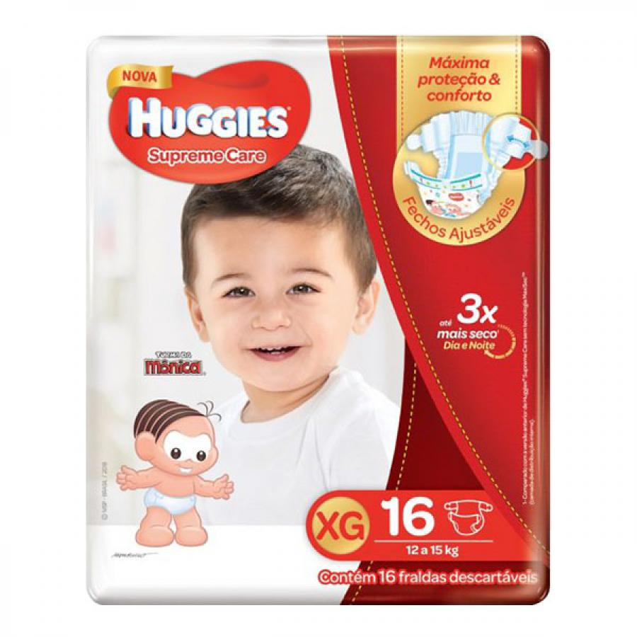 Fralda Huggies Suprema Care XG 16 Unidades