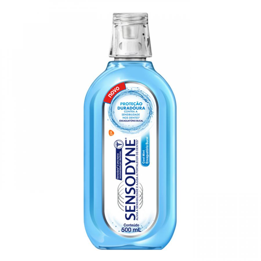 Enxaguatorio Bucal Sensodyne 500ml Cooll Mint