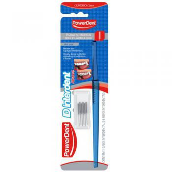 ESCOVA DENTAL INTERDENTAL C/ REFIL CILÍNDRICO POWERDENT