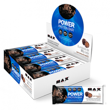 MAX TITANIUM POWER PROTEIN BARRA 90G DARK CHOCOLATE